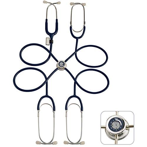 MDF® Pulse Time Lehr-Stethoskop mit eingebauter LCD Uhr - 4 Anwender - Marineblau (MDF757PT-04)