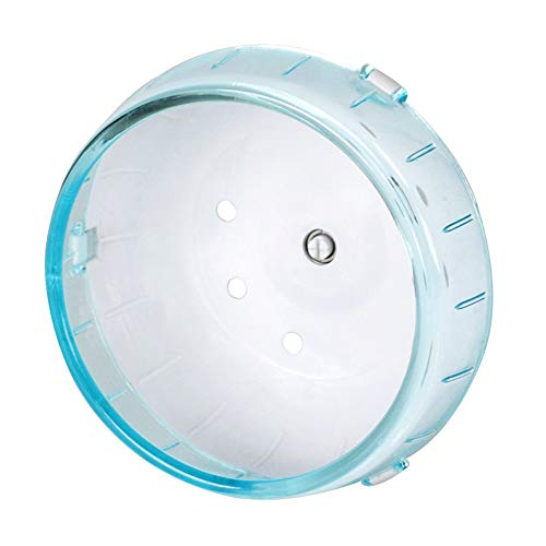 ZOOPOLR 4.7 Inches Small Silent Spinner Exercise Running Wheel for Small Hamsters, Gerbils, or Mice (Blue Running Wheel)