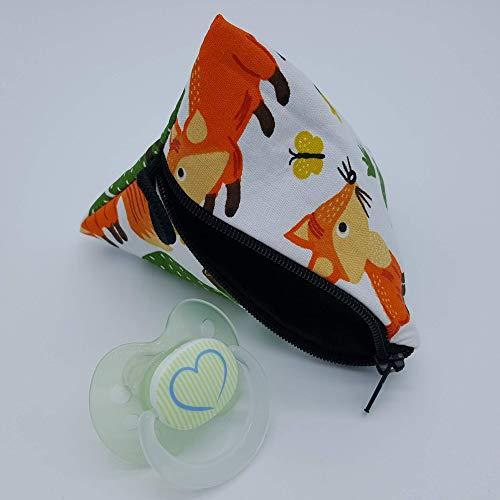 Aufbewahrung Schnuller-Tasche XL für 2-4 Nuckel Fuchs