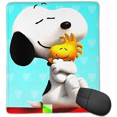 Snoopy knuffelen Woodstock rechthoek Gaming Mousepad anti-slip rubber es