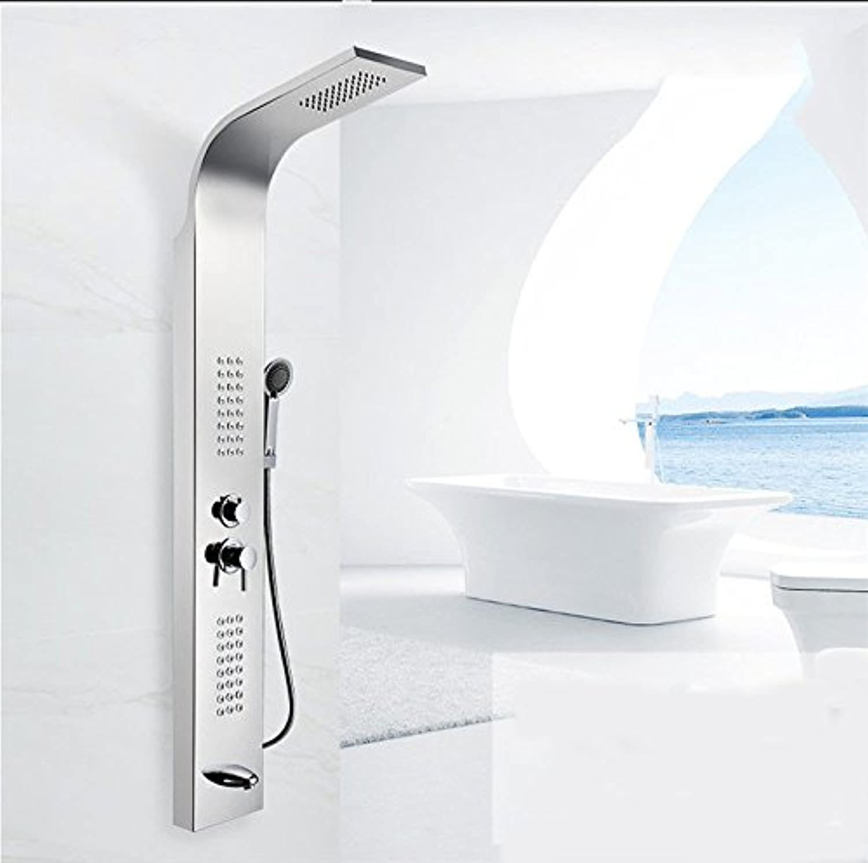 Lvsede Bad Wasserhahn Design Küchenarmatur Niederdruck Set Spiegel Duschwand Set Duschbrause Mischbatterie L5261