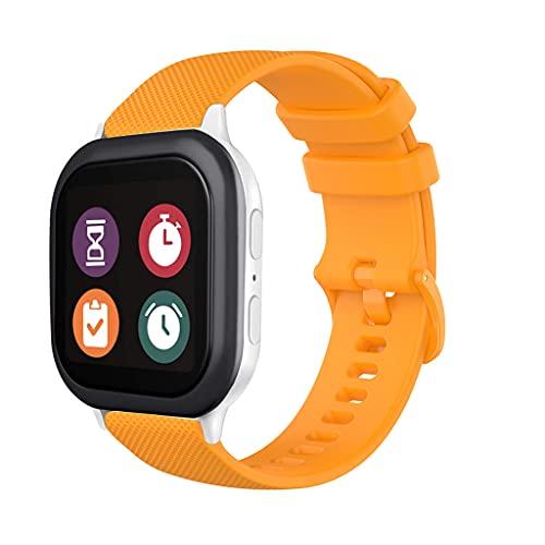 Correa de repuesto de silicona compatible con correa Gizmo para niños/niñas, bandas de reloj flexibles y ligeras para Gizmo 2/1 Watch Sport Band - Naranja
