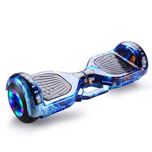 Vudifo Hoverboard Self Balancing Scooter 9 Zoll Zweirad Elektroroller Mit Bluetooth Musiklautsprecher Und LED Lichtern Höchstgeschwindigkeit Von 15 Km Für Erwachsene Kinder Geschenk (Color : Blue 2)
