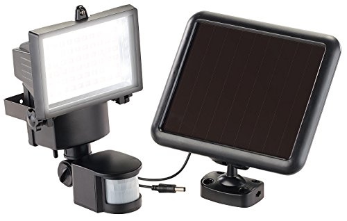 Luminea Wandfluter aussen: Solar-LED-Wand-Fluter für außen, mit Bewegungssensor, 600 Lumen, IP44 (LED Wandfluter außen)