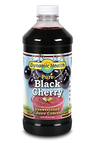Dynamic Health 100% Pure Black Cherry Juice Concentrate | No Additives | Antioxidant | Urinary Tract & Joint Support | 16 Servings (Packaging Varies)