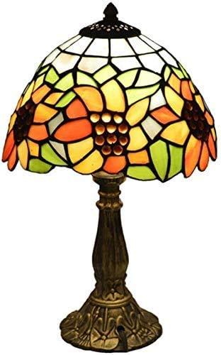 GXY Lámpara de Mesa Diseño de Girasol Lámpara de Mesa Estilo Resina...