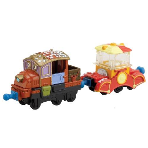 Chuggington Die-Cast – Coffret Hodge et le Wagon Popcorn – 2 Véhicules Miniatures 6cm