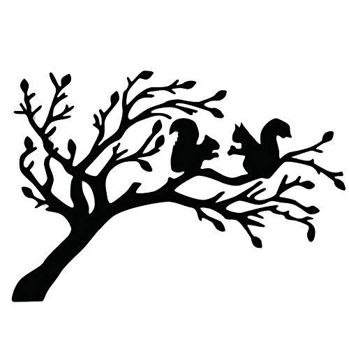 TankMR Baum Eichhörnchen Metall Stanzformen, Prägeschablone Vorlage Für DIY Scrapbook Album Papier Karte Art Craft Dekoration Silber