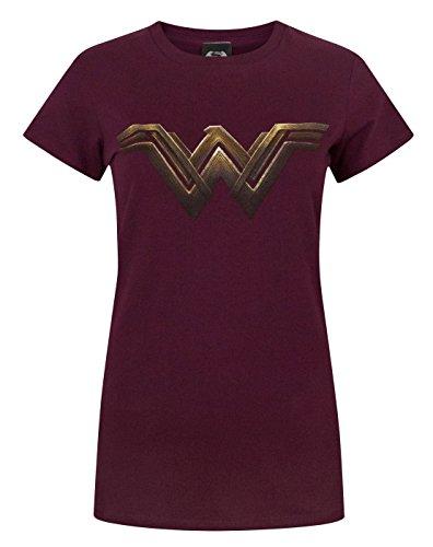DC Comics mujer Wonder Woman Logo Camiseta Medium borgoña