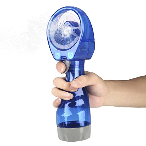 Mini Air FanDEESEE(TM) Portable Rechargeable Portable Hand held Cooling Cool Water Spray Misting Fan Mist Travel Beach (Sky Blue)