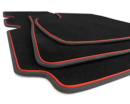 NEU Fußmatten Mazda 3 BM BN ab 2013 Automatten Tuning Zubehör Zierband Rot