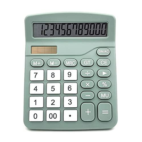 MIEDEON Color 12-Digit Solar Scientific Calculator Financial Office Computer Calculators Large Display Office Calculators Cute Calculator (Color : Green)