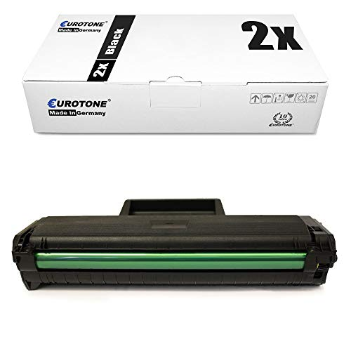 2x Eurotone Cartuccia Toner per Samsung SCX 3000 3200 3205 W sostituisce MLT-D1042S MLT-1042S Nero