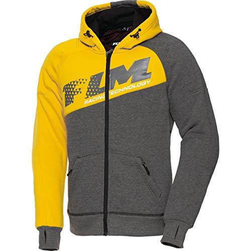FLM Hoodie Sweatshirt Sweatjacke Kapuzenpullover Hoodie mit Protektoren, Motorrad-Hoodie, Schulter-, Ellbogenprotektoren, elastische Ärmelbündchen und Jackensaum, Einschubtaschen, M-3XL