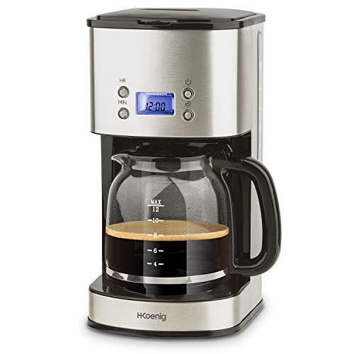 H.Koenig Mg30 Macchina del Caffe Americano, plastica, Acciaio Inossidabile, Inox