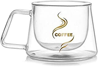 Coffee Cup Double Wall Glass Clear 200 ml Heat-resistant