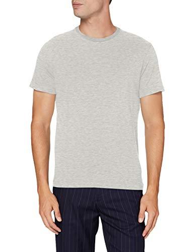 HACKETT LONDON Herren Amr Racing Lines Tee T-Shirt, Gris-913Light Grey Marl, X-Large