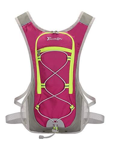 HunterBee - Mochilas de hidratación para correr al aire libre de nailon para senderismo, mochila de senderismo y ciclismo para hombres, mujeres y niños