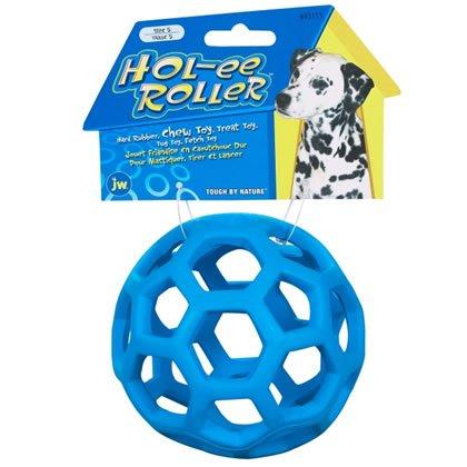 JW Pet Hol-ee Rodillo de goma para perro (tamaño: pequeño – 8,9 cm)