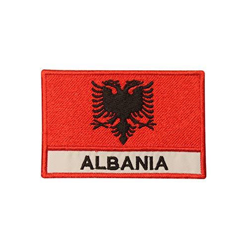 Albanien-Flagge zum Aufbügeln oder Aufnähen