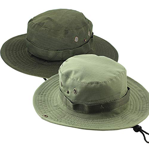 2 PC Tactical Military Boonie Hat for Men Women Sun Hunting...