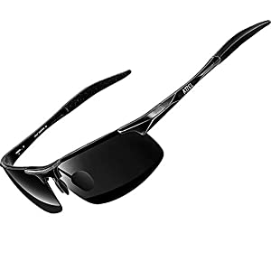 ATTCL Men's Fashion Driving Polarized Sunglasses Al-Mg Metal Frame Ultra Light