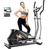 ANCHEER Elliptical Machine, 2021 Newest APP Elliptical Machine Cross Trainer with Adjustable 8 Level Magnetic Resistance for Indoor Fitness Gym Workout Max Weight 390LBS