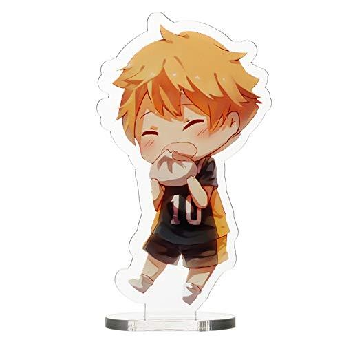 Sweet&rro17 Anime Haikyuu Figure Acryl Aufsteller Display Stand Figur Zimmer Deko Desk Miniature 8,5cm(Shoyo Hinata)