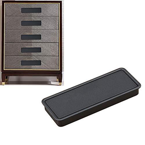 DACHENGJIN Möbel Einfach Kleiderschrank geschlitzt Scrub Griff verdecktem Einbau-Schublade Invisible Griff, Lochabstand: 96mm (schwarz) (Color : Black)