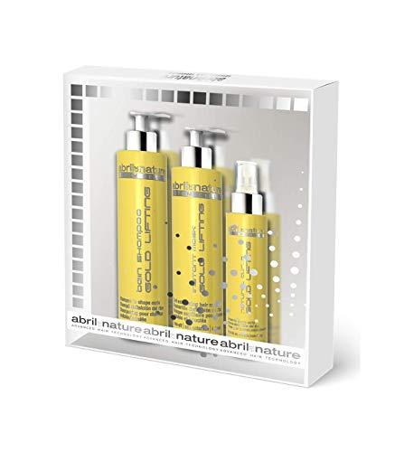 abril et nature - Gift Pack linea GOLD LIFTING - Include Maschera Capelli, Siero Capelli e Shampoo Capelli Ricci in regalo - Shampoo Professionale Ricci Perfetti - Prodotti da Parrucchiere