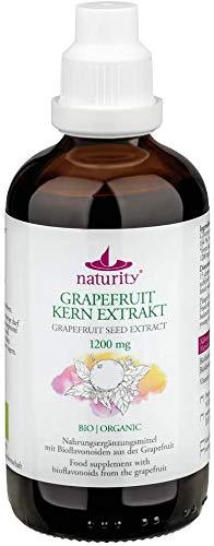 BIO Grapefruitkernextrakt, 1200 mg Bioflavonoide/100 ml, zertifizierte Bio-Qualität, vegan und in Deutschland hergestellt, leicht und sauber anzuwenden