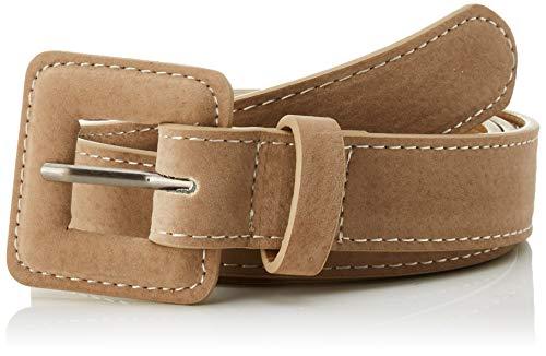 Springfield 5.T.Cinturon.Heb.Forrada-C/35 Cinturón, Beige (Tan 35), 95 (Tamaño del fabricante: 95) para Mujer