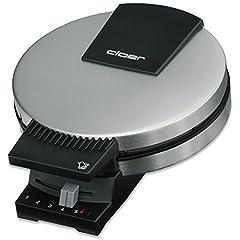 Maszyna do gofrów Cloer 189 do gofrów przypominających ciasto, podwójna powłoka, 930 W, rozmiar wafli 16 cm, ciężkie płyty do pieczenia, optyczna i akustyczna gotowa rejestracja, matowa obudowa ze stali nierdzewnej