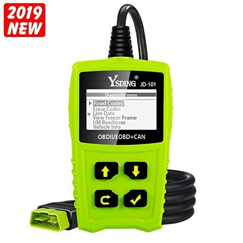 Ysding OBD2 à diagnostic automatique OBDII Scanner pour tous les véhicules à partir de 2000 avec modes OBD2 / EOBD / CAN pour lire et effacer le code d'erreur et...