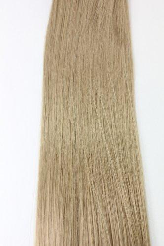 WIG ME UP - 8 sets d'extensions clip-in complets tête blond cendré (25) Longueur 40 cm EX03-25