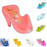 Chipolino Baby Badewannenliege Badewannenauflage ab Geburt, mit Gummifüßen, Farbe:rosa Blumen