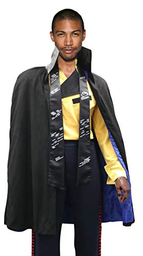 Star Wars Lando Calrissian Costume Shirt Cloak Scarf Han Solo Story (L)
