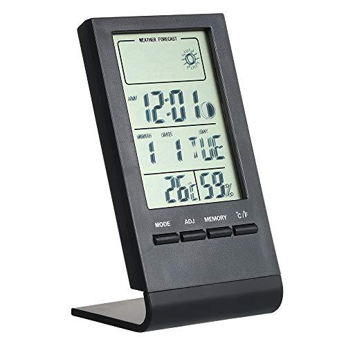 KKmoon Mini Thermomètre Intérieur, Hygromètre Numérique, Moniteur D'intérieur Sans Fil Avec écran LCD Prévisions Météo Précises