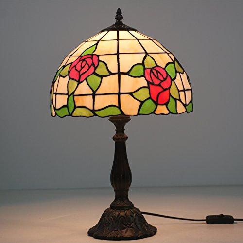 'yema Flores 12Tiffany lámpara