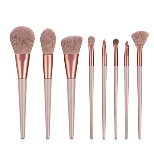 Kybbe Maquillage Brosses Set 8 Pcs Ombre À Paupières Cosmétique Poudre Mélange Cils Cils Eyeliner Brosse À Sourcils Beauté Maquillage Outils