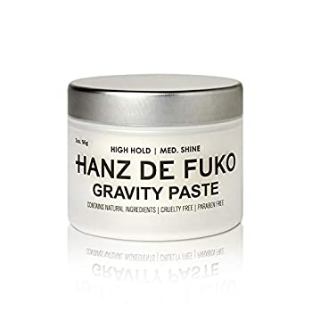 Hanz de Fuko Gravity Paste  Men's Premium Hair Styling Paste with Medium Shine Finish  2 oz