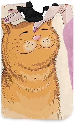 AAAshorts Cesta para la colada grande, plegable, plegable, para la ropa, cesta de la ropa, cesta plegable para la colada, cubo de lavado lindo gato