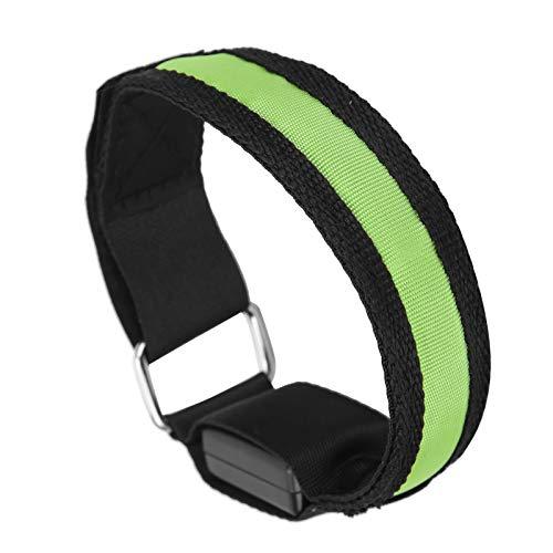 Meiyya Brazalete LED, Brazalete LED Ajustable Parpadeo Lento y luz Constante Amplia aplicación para protección Deportiva para Deportes al Aire Libre para Fitness para Entrenamiento(Green)