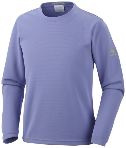 Columbia  - Top de Manga Larga de Running para niño, Color Morado, Talla S