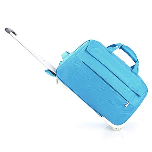 Buy Discount FANQIECHAODAN Canvas Luggage Adventure 19-20.8 Inch,Portable Travel Bag Rolling Multi-P...