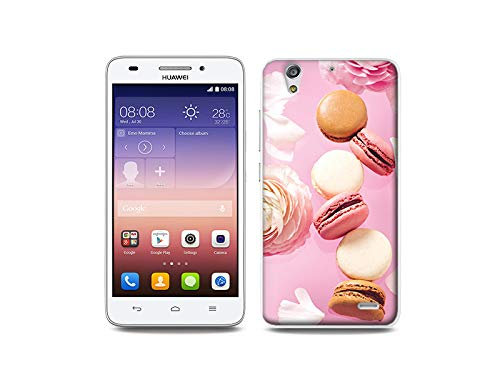 etuo Handyhülle für Huawei Ascend G620s - Hülle, Silikon, Gummi Schutzhülle - Makronen