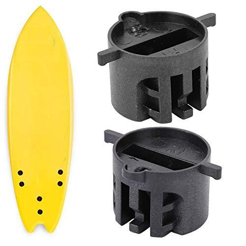 Tapón de Aleta de Surf Tapón de Taza de Tabla de Surf Plástico Negro/Blanco Muebles Diarios Deportes para Agua de mar al Aire Libre(Black)