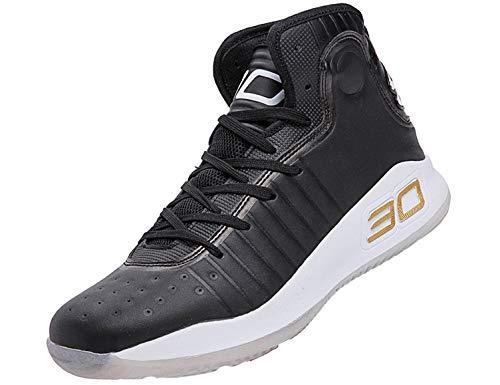 SINOES Zapatillas de Baloncesto para Hombre, Botas de Baloncesto de absorción de Choque de Rendimiento Zapatillas de Entrenamiento Ligeras Transpirable Suave Estudiante al Aire Libre