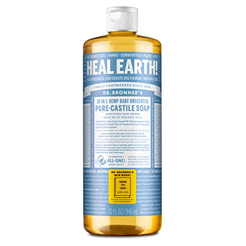 Dr. Bronner - Organic Castile Soap Unscented Baby-Mild, 32 fl oz liquid (japan import)