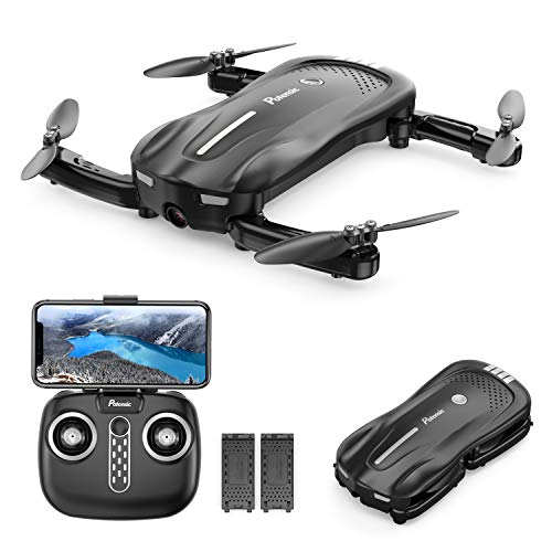 Potensic D18 Foldable Drone with 1080P FPV WiFi Camera for Adults, RC Quadcopter Live Video, 20 Min 2 Batteries, Optical Flow, Altitude Hold Easy Control One Key Take Off/Landing for Beginner and Kids